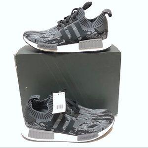 Adidas NMD R1 PK Primeknit Mens Glitch Camo Sz 13
